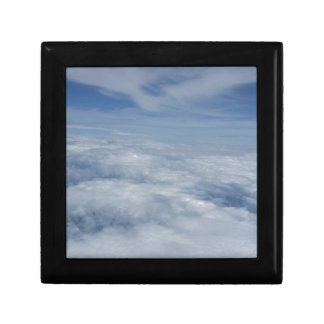 blue morning sky small square gift box