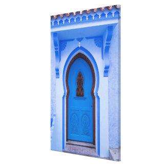 Blue Moroccan Door Canvas Print
