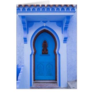 Blue Moroccan Door Card