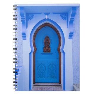 Blue Moroccan Door Notebooks