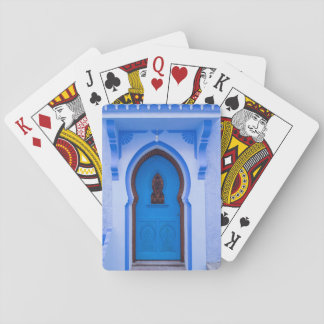 Blue Moroccan Door Playing Cards