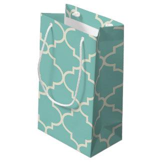 Blue Moroccan Lattice Pattern Small Gift Bag
