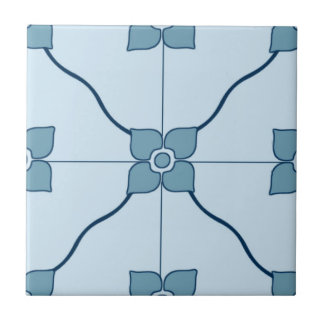 Blue Moroccan Patterned Tile