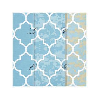 blue,moroccan,quatrefoil,pattern,trendy,modern,fun canvas print