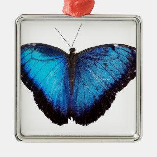 Blue Morpho Butterflie Metal Ornament