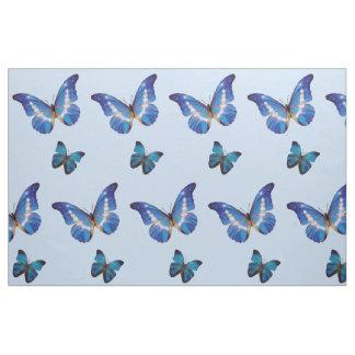 Blue Morpho Butterflies Fabric