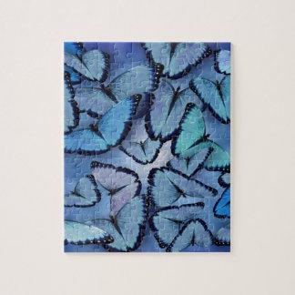 Blue Morpho Butterflies Jigsaw Puzzle