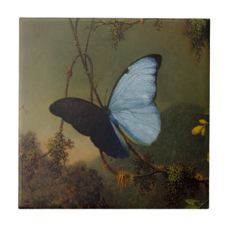 Blue Morpho Butterfly by Martin Johnson Heade Tile