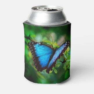 Blue Morpho Butterfly Can Cooler