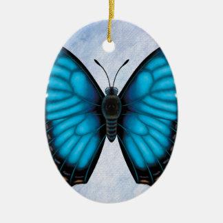 Blue Morpho Butterfly Ceramic Ornament
