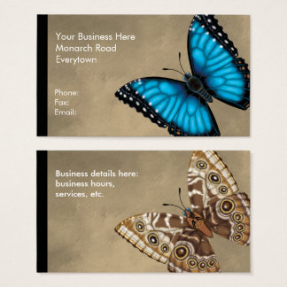 Blue Morpho Butterfly Dorsal and Ventral Business Card
