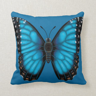 Blue Morpho Butterfly Dorsal and Ventral Cushion