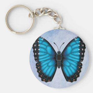 Blue Morpho Butterfly Key Ring