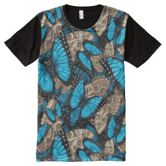 Blue Morpho Butterfly Madness All-Over Print T-Shirt