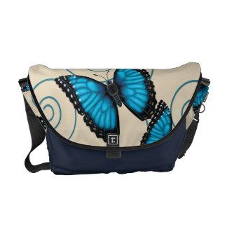 Blue Morpho Butterfly Messenger Bag