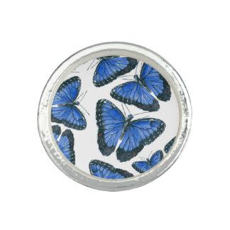 Blue morpho butterfly pattern design