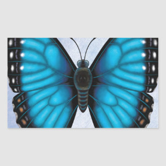 Blue Morpho Butterfly Rectangular Sticker
