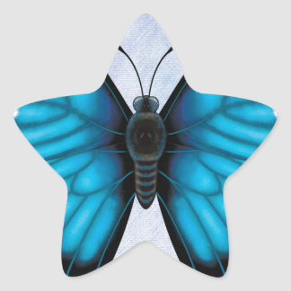 Blue Morpho Butterfly Star Sticker
