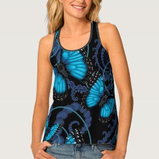 Blue Morpho Butterfly Swirls Singlet