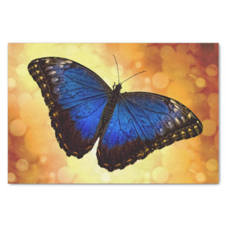 Blue Morpho Butterfly Tissue Paper