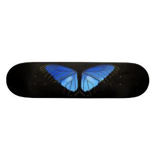 Blue Morpho Butterfly Wings Skate Board