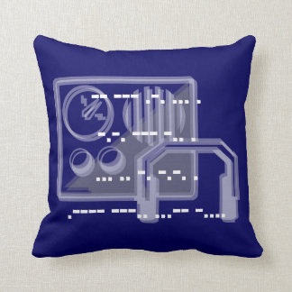 Blue Morse code design cushion 41cmx41cm
