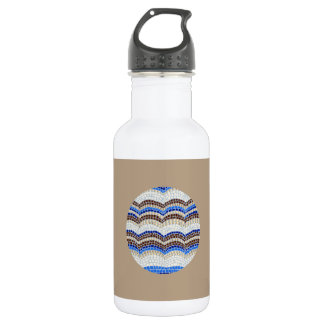 Blue Mosaic 18 Oz Water Bottle