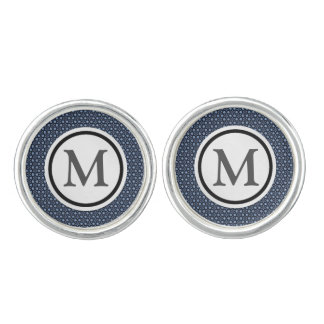 Blue mosaic cuff links
