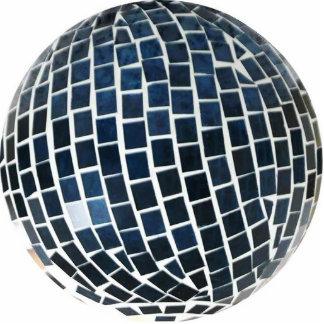 Blue Mosaic Globe Sculpture Photo Sculpture