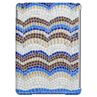 Blue Mosaic Glossy iPad Air Case