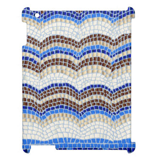 Blue Mosaic Glossy iPad Case