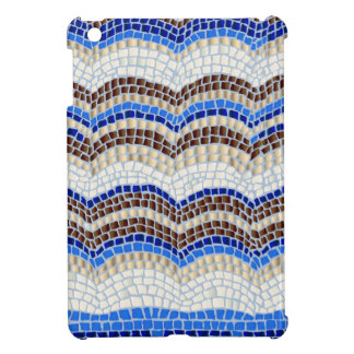 Blue Mosaic Glossy iPad Mini Case