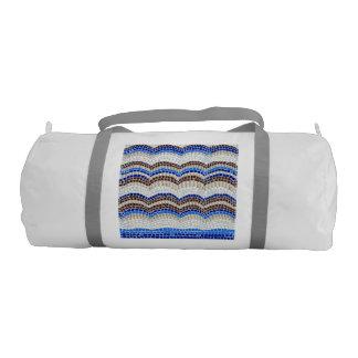 Blue Mosaic Gym Bag Gym Duffel Bag