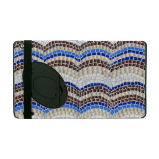 Blue Mosaic iPad 2/3/4 Case with Kickstand
