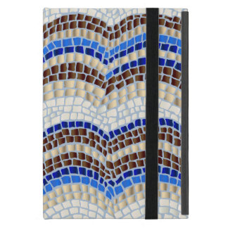 Blue Mosaic iPad Mini Case with No Kickstand