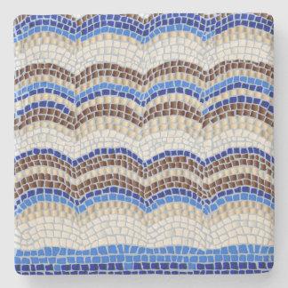 Blue Mosaic Limestone Coaster