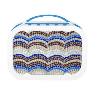 Blue Mosaic Lunch Box