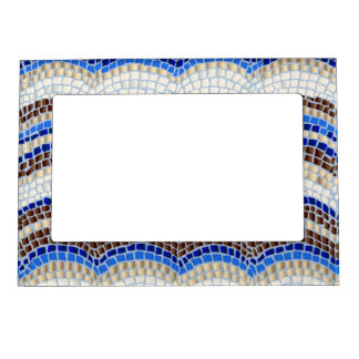 Blue Mosaic Magnetic Frame