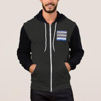 Blue Mosaic Men's Full-Zip Hoodie