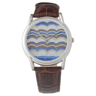 Blue Mosaic Men's Watch