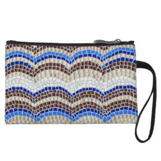 Blue Mosaic Mini Clutch