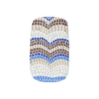 Blue Mosaic Minx Nail Art