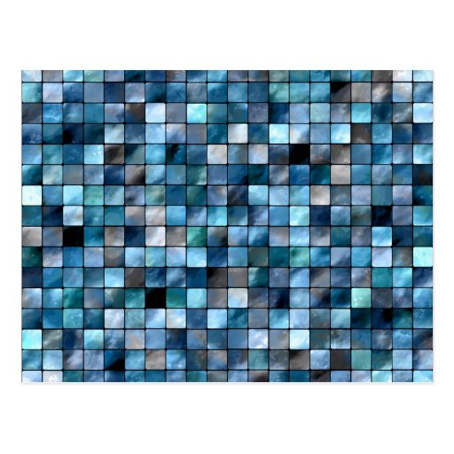 Blue Mosaic Of Tiles Postcards