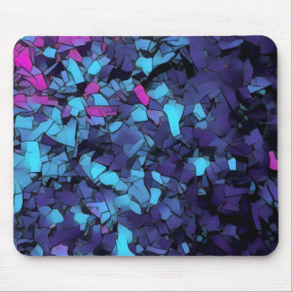 Blue mosaic pattern mousepad