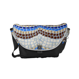 Blue Mosaic Small Messenger Bag