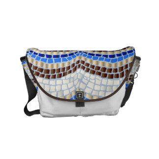Blue Mosaic Small Messenger Bag