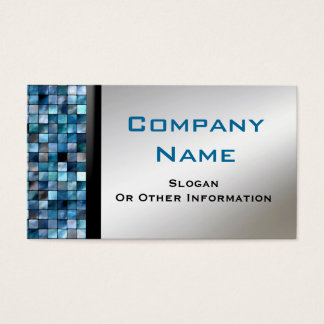 Blue Mosaic Tiles Business Cards