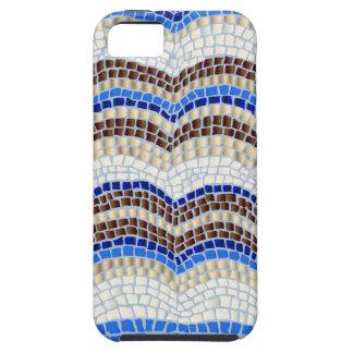 Blue Mosaic Tough iPhone SE/5/5s Case