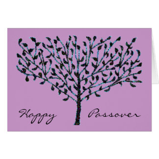 Blue Mosaic Tree Passover Card