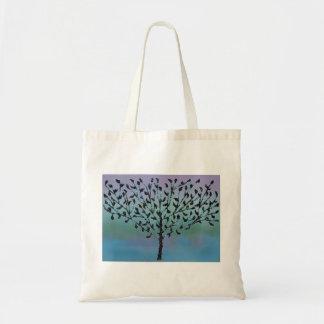 Blue Mosaic Tree Tote Bag
